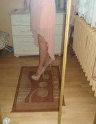 Asymetryczna spódnica morelowa mgieła NEW YORKER...