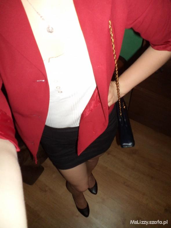 Eleganckie czerwień czerń i biel