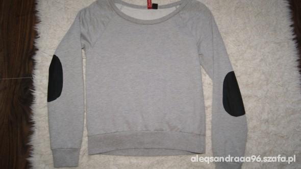 szara bluza z łatami XS