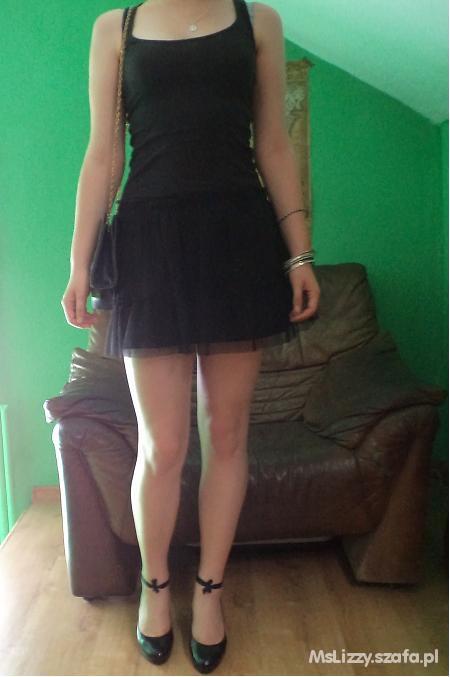 Mój styl Tiulowa spódniczka czerń i złoto