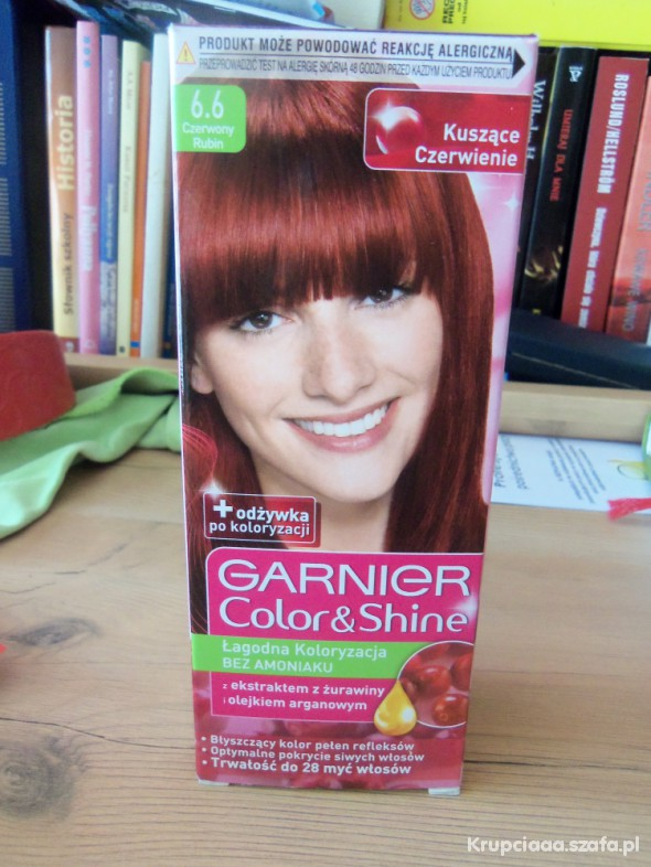 Włosy Farba Garnier Color&Shine i szamponetka