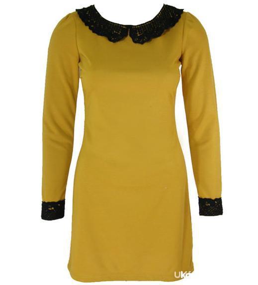 Suknie i sukienki sukienka musztardowa atmosphere