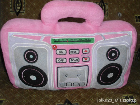 Zabawki duże miękkie radio działa jak prawdziwe polskie