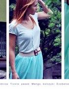 transparentna spódnica z krótkim przodem...
