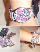 Zegarek na wstążce OPIA panterka