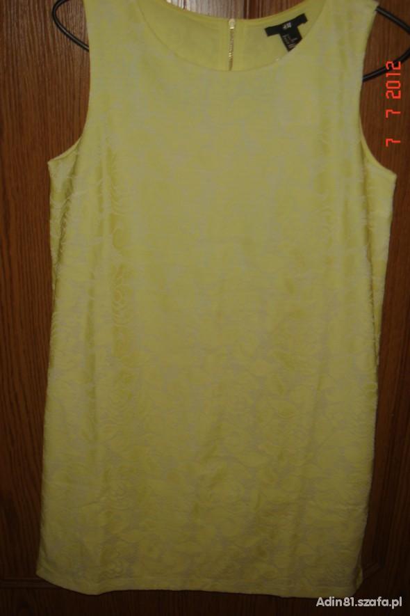 Suknie i sukienki sukienka urocza żólta rozm36