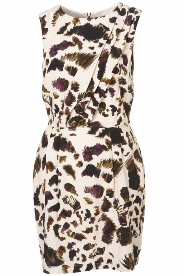Topshop tuck shift animal printdress