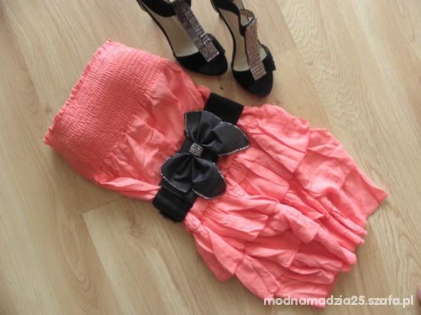 Suknie i sukienki SUKIENKA TUNIKA FALBANY UNI S M L XL XS FALBANKI