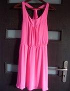 sukienka H&M NEONOWA ROZOWA...