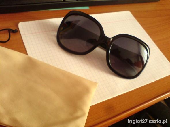 Duże okrągłe okulary HM czarne w Okulary Szafa.pl