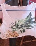 krótki top wzór jak u versace ananas