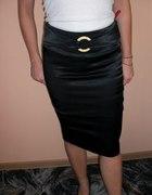 czarna satynowa spodniczka
