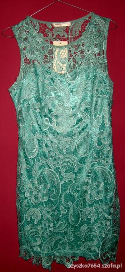 Suknie i sukienki Śliczna miętowa sukienka VERA&LUCY