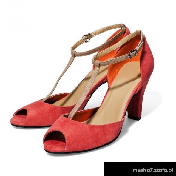 5e3cce5c Koralowe buty New Yorker w Szpilki - Szafa.pl