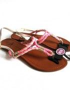 nowe sandały japonki 38 Atmosphere z różowym