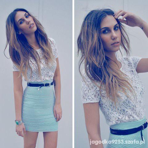 Eleganckie Bandażowa spódniczka w pastelowym kolorze