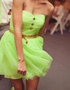neonowa sukieneczka...