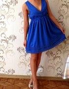 ONLY chabrowa rozkloszowana sukienka kobieca 38 M