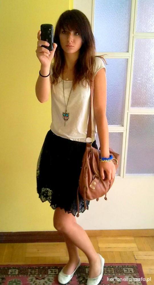 Mój styl koronkowa spódnica
