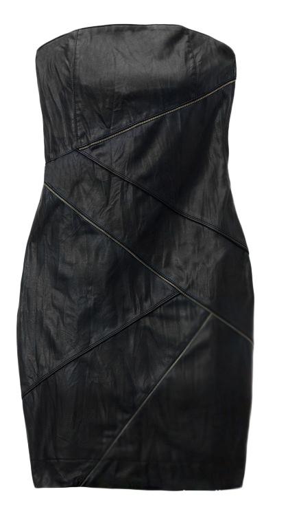 Suknie i sukienki sukienka czarna zip MOHITO 34 eko skóra