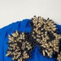 SALE Blue Embellished Bandeau Dress TOPSHOP 42
