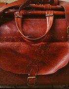 retro skórzana torba weekendowa