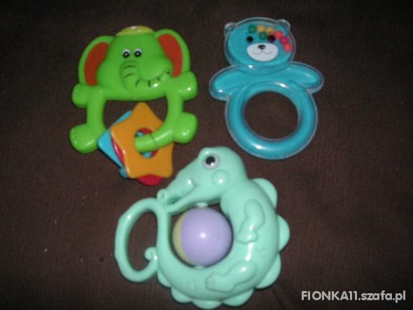 Zabawki trzy grzechotki