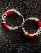 Kolczyki czerwone kółeczka