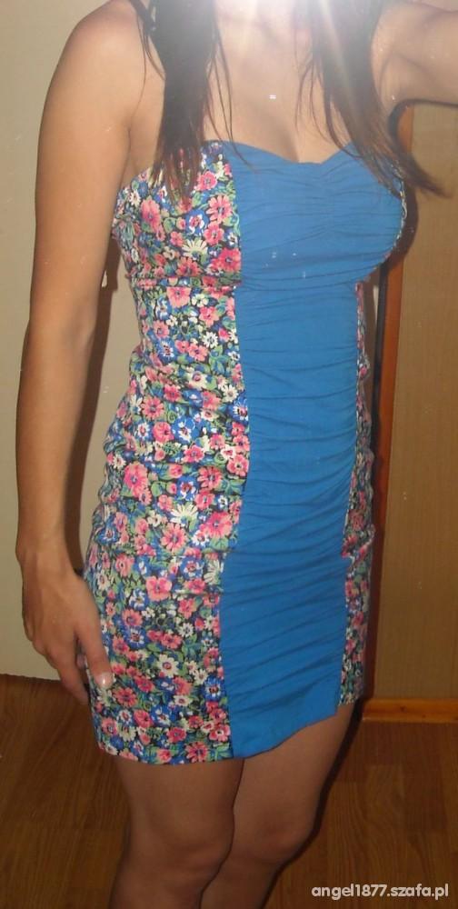 28b6a0bb45 sukienka w kwiaty bershka w Suknie i sukienki - Szafa.pl