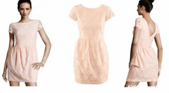 Suknie i sukienki KORONKOWA CUDO H&M SUKIENKA 42 44