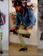 Katana jeansowa DIY moro