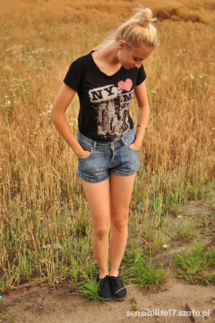 Mój styl Szorty i bluzka
