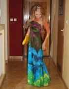 galaxy & floral moja sukienka