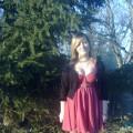 Sukienka H&M plus rajstopki w serduszka