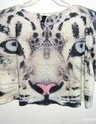 Bluzka Oversize z motywem zwierzęcym