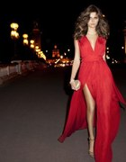 dluga czerwona sukienka MANGO 34