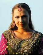 Hinduska sukienka tunika w groszki z Anja172...