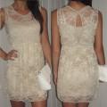 bezowa sukienka wysylka gratis