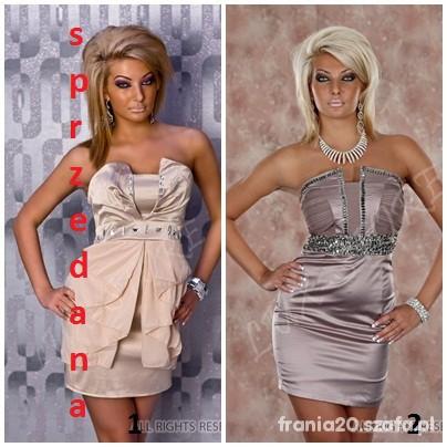 Suknie i sukienki sliczna sukienka cyrkonie rozne rodzaje