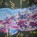 chusta apaszaka niebieska w kwiatki floral duża