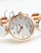 Biały Elegancki Zegarek ze Złotem