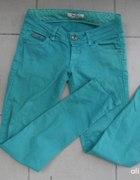 Spodnie bershka zielone zip