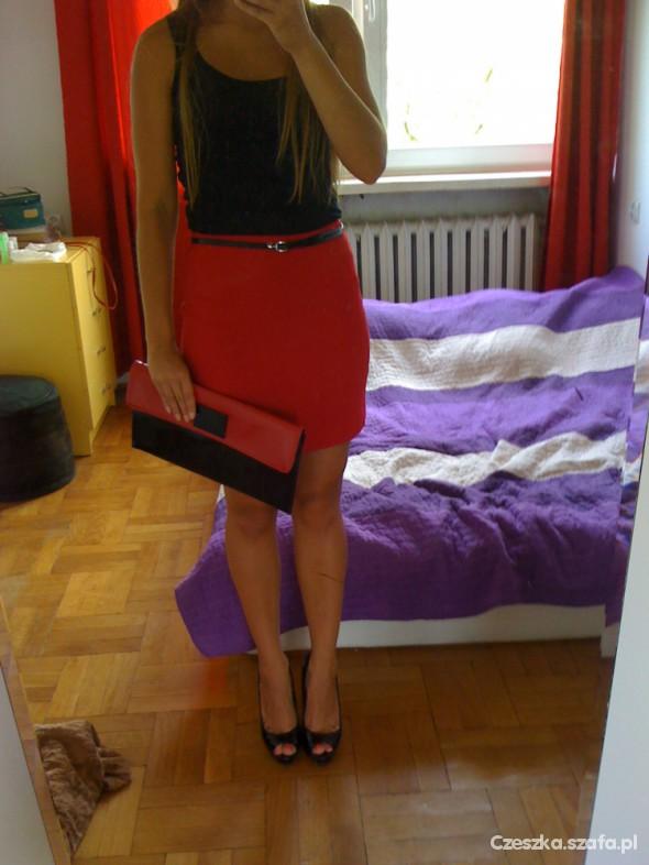 Mój styl czerwono czarni