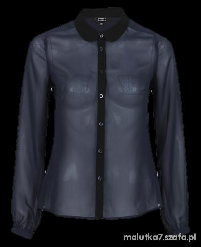 Ubrania Przeswitujaca czarna koszula