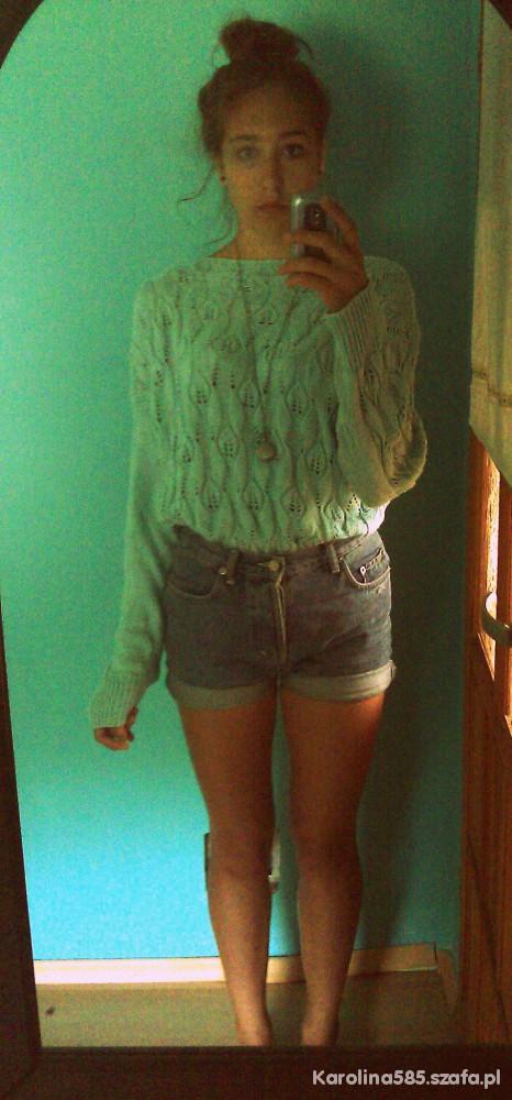 Do szkoły Miętowy sweter