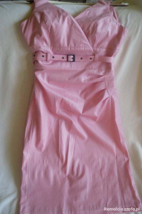 Suknie i sukienki Różowa sukienka sexi