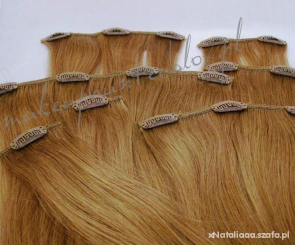 Włosy clip in miodowy blond poszukuje