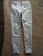 Wężowe miętowe spodnie h&m