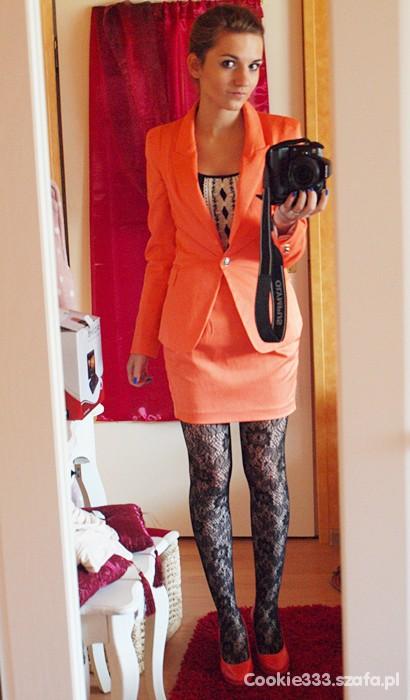 Eleganckie Pomarańczowy zawrót głowy