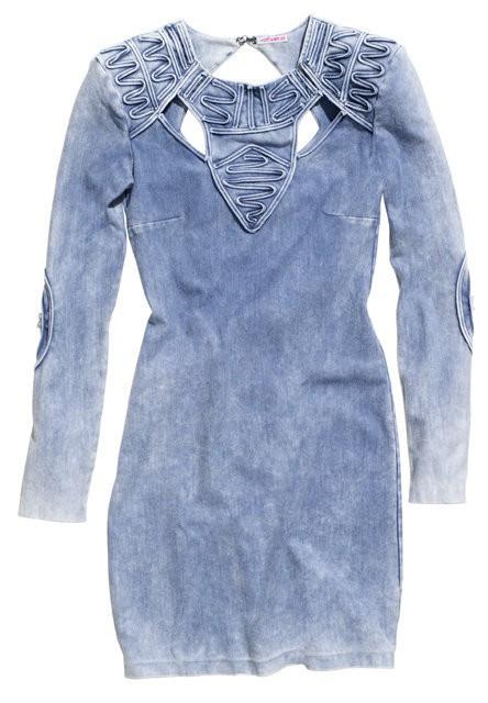 Suknie i sukienki Marmurkowa Jeansowa sukienka Fashion Against Aids